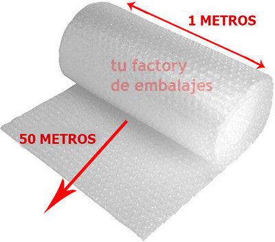 Rollo plástico de burbujas ancho 1 metro x 50m Embalaje para Mudanza