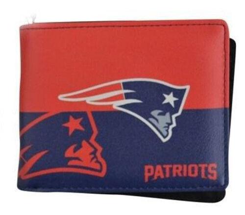 New England Patriots Mens Wallet Bi-fold Colorful NFL Footba