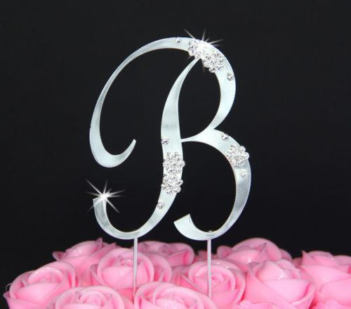 wedding cake topper letter letter b wedding cake topper ebay 8805