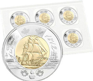 Canada HMS shannon mint sealed pack of 5 toonies