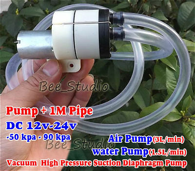 Dc 12v24v Mini Diaphragm Water Air Pump Self-priming Vacuum Suction -50kpa