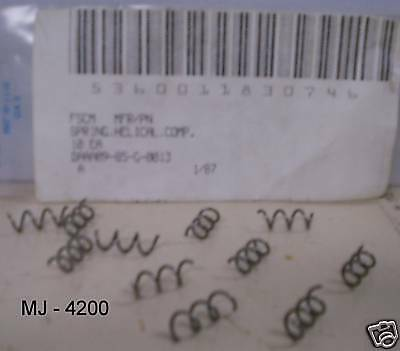Package Of 10 General Dynamics - Compression Helical Springs - Pn Mb3468 Nos