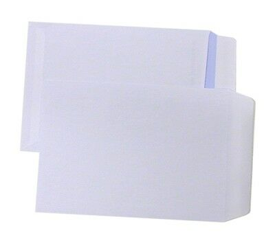 50 C5 Plain Non Window Envelopes Paper Wallets 229x162mm Self Seal White Letter