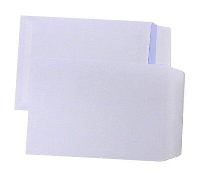 50 C5 Plain Non Window Envelopes Paper Wallets 229x162mm Self Seal White Letter