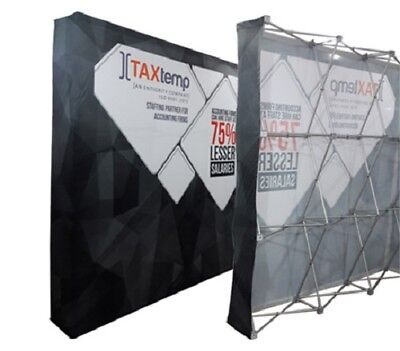 10ft Straight Pop Up Fabric Display Trade Show Backdrop Wall Stand Framegraphic