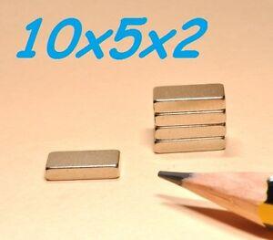 5-MAGNETI-NEODIMIO-10X5X2-MM-CALAMITA-POTENTE-FIMO-CERAMICA-MAGNETE-CALAMITE