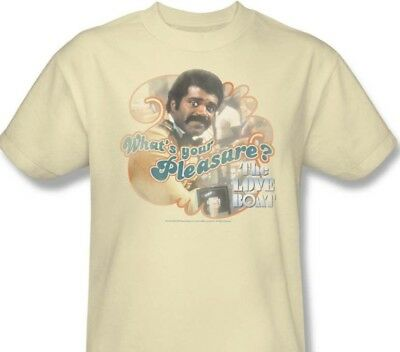 The Love Boat Bartender (The Love Boat T-shirt Issac the Bartender CBS176 70's retro beige graphic)
