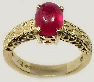 18thC Antique 3½ct Ruby Ancient Hindu Ratnaraj King of Gems Warrior 14kGold Ring