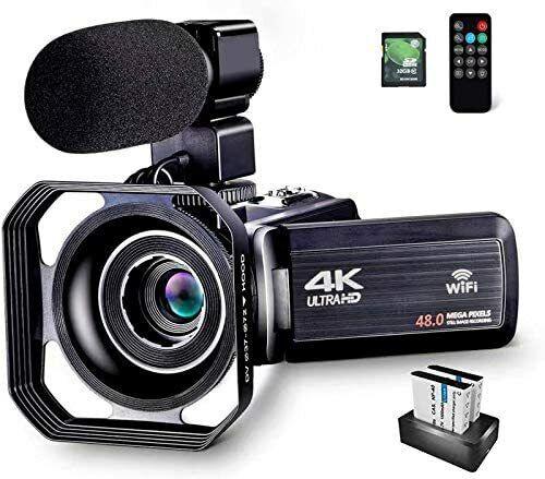 Camcorder Video Camera Ultra HD 4K 48MP Camcorder Camera wifi Microphone Remote