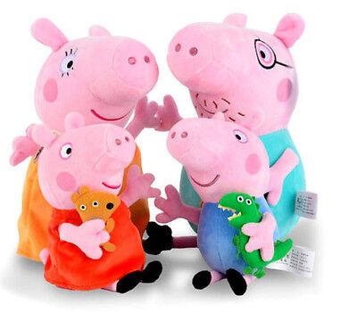 4 PCS Peppa Pig Stuffed Soft Plush Peppa Wutz Familie Plüschtiere Plüsch Neu ()