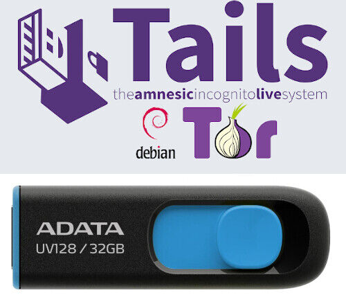 Tails Linux 4.16 32 Gb USB 3.2 Drive Safe Fast Secure Live Bootable Anonymous