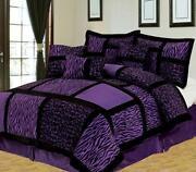Purple Zebra Bedding