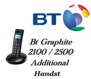 BT GRAPHITE 2100 & 2500 ADDITIONAL HANDSET & CHARGER + BATTERIES