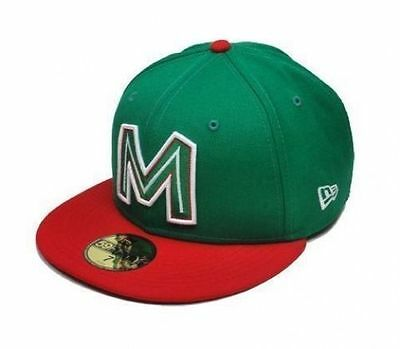 New Era 59Fifty Cap Caribbean Style Mexico Team Mens Womens Green Red Visor Hat