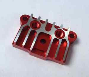 NEW DIRT PIT BIKE ENGINE CNC OIL COOLER ADAPTER PLATE 50CC - 125CC 110CC red
