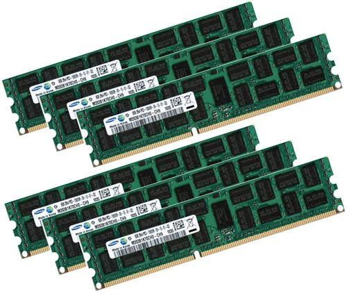 6x 8GB 48GB Samsung 1333 Mhz Apple Mac Pro 4,1 5,1 ECC RAM Speicher DDR3 MacPro