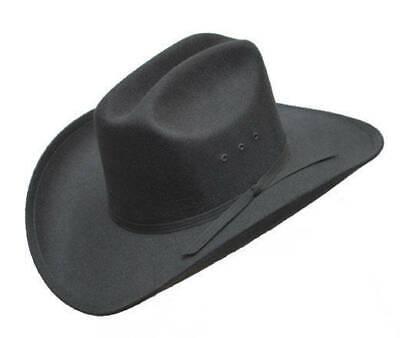 BRAND NEW SZ 7 MIDNIGHT BLACK FAUX FELT RODEO STYLE COWBOY WESTERN HAT