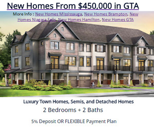 New Homes From $450,000 in GTA