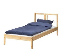 Bed, Slats, Mattress and Wardrobe single