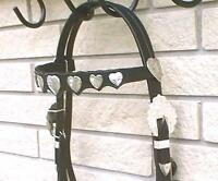 Western Bridle Set Dark Oil Leather + Silver Hearts + Reins