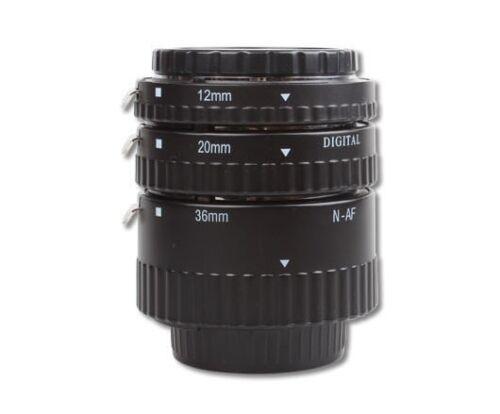 Meike MK-N-AF-B ABS AF Macro Extension Tube Set For Nikon SLR With Auto Focus