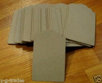 Lot 100 Large Scalloped Kraft Merchandise Price Tags Unstrung 3h X 2w