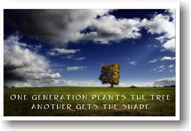 One generation plants tree - Eco Motivational    POSTER