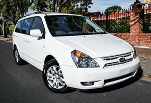 2009 Kia Grand Carnival VQ Premium White 5 Speed Sports Automatic Wagon Medindie Walkerville Area Preview