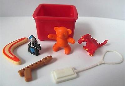 Playmobil dollshouse/school storage box & toys for children figures NEW