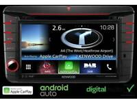"""Kenwood dnx516dabs 7.0"""" WVGA, Navigation System with built-in DAB tuner for VW, Skoda & Seat"""