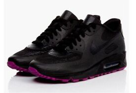 Black & Plum Pink Trainers Available
