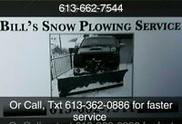 Bill's Snow Plowing Services