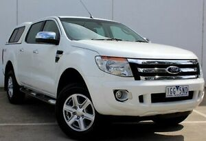 2012 Ford Ranger PX XLT Double Cab White 6 Speed Sports Automatic Utility Berwick Casey Area Preview