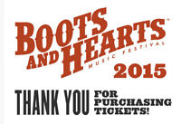 Boots and Hearts Ticket- 1 GA Full Event- Best Offer