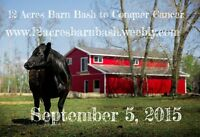 12 Acres Barn Bash to Conquer Cancer