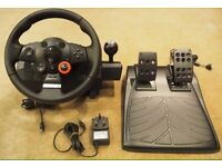 Logitech Driving Force GT Steering Wheel + Pedals. Excellent Condition