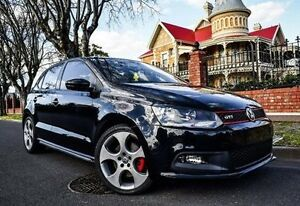 2010 Volkswagen Polo 6R MY11 GTI DSG Black 7 Speed Sports Automatic Dual Clutch Hatchback Medindie Walkerville Area Preview