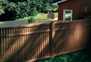 NEW LINE !! Natural Wood Grain Appearance VINYL FENCE.