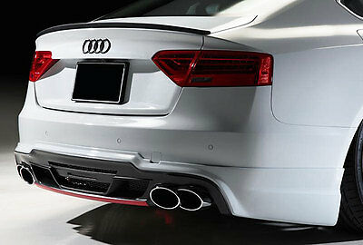 For ALL Audi-A5 S5 RS5 B8 Rear Trunk Boot Spoiler Lip Wing Sport Trim