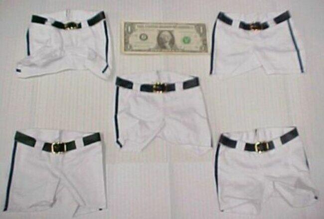 5 Greek Doll Clothes Baseball Uniform Pants, Shorts Team Sports Outfit Softball