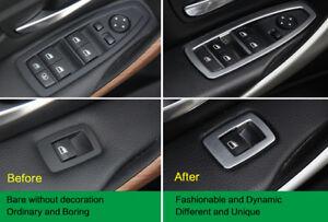 BMW Stainless Steel Car Door Window Switch Panel Trim Cover