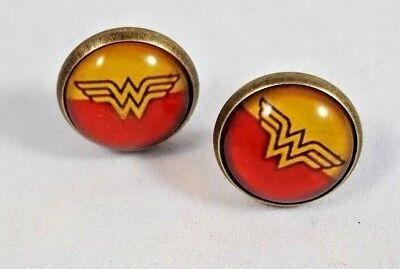 Earrings Comic Woman Superhero Jewelry Wonder Woman  DC Comics Stud (Wonder Woman Stud Earrings)
