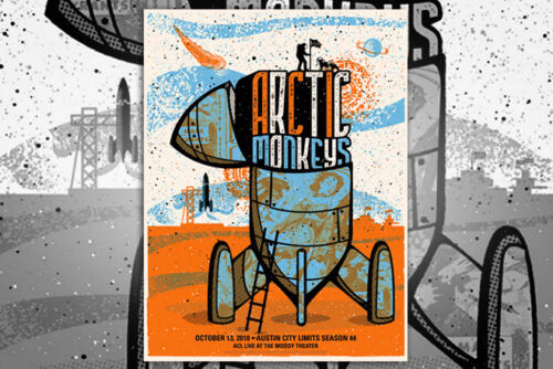 Arctic Monkeys Poster 10/13/2018 ACL Live TX Signed A/P Artist Proof