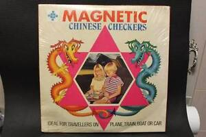 Magnetic Chinese Checkers Game (1974) Boondall Brisbane North East Preview