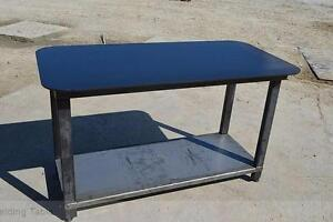 NEW HEAVY DUTY WELDING WORK BENCH SOLID STEEL TABLE 2000LBS + CAP SHOP WELDING TABLE