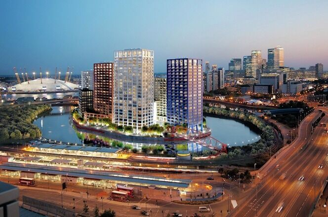 BRAND NEW REFURBISHED 3 DOUBLE BEDROOM APARTMENT 2 BATHROOMS CANARY WHARF LONDON CITY ISLAND