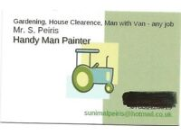 Handy Man with owner Driver, Gardening, Painting and House Clearence