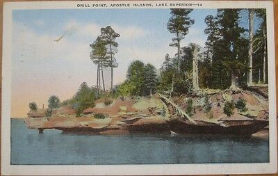 1954 Pc  Drill Point Apostle Islands  Lake Superior  Wi