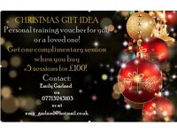 Personal Training Christmas Vouchers