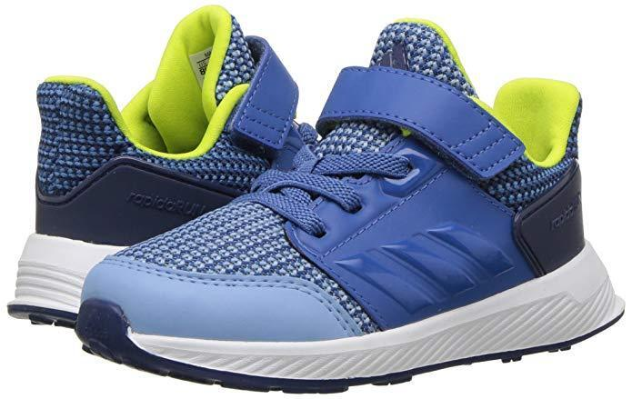 Toddler Adidas RapidaRun Running Shoe CQ0140 Color Ash Blue/Trace Royal New